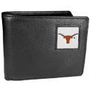 Siskiyou Buckle CBI22 Texas Longhorns Leather Bi-fold Wallet Packaged in Gift Box