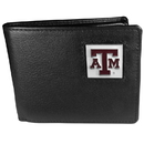 Siskiyou Buckle CBI26 Texas A & M Aggies Leather Bi-fold Wallet Packaged in Gift Box