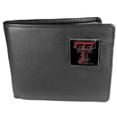 Siskiyou Buckle CBI30 Texas Tech Raiders Leather Bi-fold Wallet Packaged in Gift Box