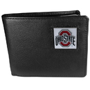 Siskiyou Buckle CBI38 Ohio St. Buckeyes Leather Bi-fold Wallet Packaged in Gift Box