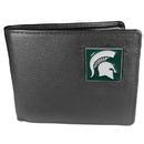 Siskiyou Buckle CBI41 Michigan St. Spartans Leather Bi-fold Wallet Packaged in Gift Box