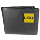 Siskiyou Buckle CBI43 LSU Tigers Leather Bi-fold Wallet Packaged in Gift Box