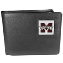 Siskiyou Buckle CBI45 Mississippi St. Bulldogs Leather Bi-fold Wallet Packaged in Gift Box