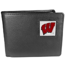 Siskiyou Buckle CBI51 Wisconsin Badgers Leather Bi-fold Wallet Packaged in Gift Box