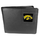 Siskiyou Buckle CBI52 Iowa Hawkeyes Leather Bi-fold Wallet Packaged in Gift Box