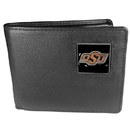Siskiyou Buckle CBI58 Oklahoma State Cowboys Leather Bi-fold Wallet Packaged in Gift Box
