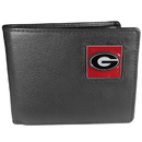 Siskiyou Buckle CBI5 Georgia Bulldogs Leather Bi-fold Wallet Packaged in Gift Box