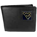 Siskiyou Buckle CBI60 W. Virginia Mountaineers Leather Bi-fold Wallet Packaged in Gift Box