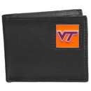 Siskiyou Buckle CBI61BX Virginia Tech Hokies Leather Bi-fold Wallet