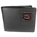 Siskiyou Buckle CBI63 S. Carolina Gamecocks Leather Bi-fold Wallet Packaged in Gift Box