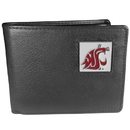 Siskiyou Buckle CBI71 Washington St. Cougars Leather Bi-fold Wallet Packaged in Gift Box