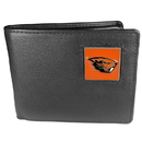 Siskiyou Buckle CBI72 Oregon St. Beavers Leather Bi-fold Wallet Packaged in Gift Box