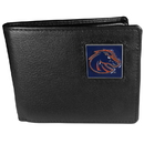 Siskiyou Buckle CBI73 Boise St. Broncos Leather Bi-fold Wallet Packaged in Gift Box