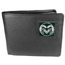 Siskiyou Buckle CBI76 Colorado St. Rams Leather Bi-fold Wallet Packaged in Gift Box