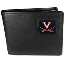 Siskiyou Buckle CBI78 Virginia Cavaliers Leather Bi-fold Wallet Packaged in Gift Box