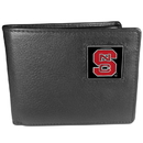 Siskiyou Buckle CBI79 N. Carolina St. Wolfpack Leather Bi-fold Wallet Packaged in Gift Box