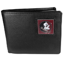 Siskiyou Buckle CBI7 Florida St. Seminoles Leather Bi-fold Wallet Packaged in Gift Box