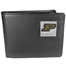 Siskiyou Buckle CBI84 Purdue Boilermakers Leather Bi-fold Wallet Packaged in Gift Box