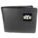 Siskiyou Buckle CBI86 BYU Cougars Leather Bi-fold Wallet Packaged in Gift Box