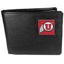 Siskiyou Buckle CBI89 Utah Utes Leather Bi-fold Wallet Packaged in Gift Box
