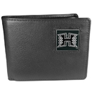 Siskiyou Buckle CBI99 Hawaii Warriors Leather Bi-fold Wallet Packaged in Gift Box