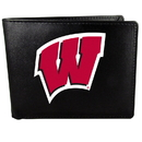 Siskiyou Buckle Wisconsin Badgers Bi-fold Wallet Large Logo, CBIL51