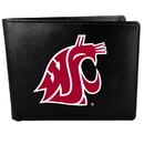 Siskiyou Buckle Washington St. Cougars Bi-fold Wallet Large Logo, CBIL71