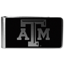Siskiyou Buckle Texas A & M Aggies Black and Steel Money Clip, CBKM26