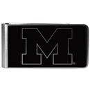 Siskiyou Buckle Michigan Wolverines Black and Steel Money Clip, CBKM36