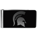 Siskiyou Buckle Michigan St. Spartans Black and Steel Money Clip, CBKM41