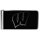 Siskiyou Buckle Wisconsin Badgers Black and Steel Money Clip, CBKM51