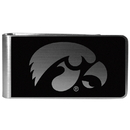 Siskiyou Buckle Iowa Hawkeyes Black and Steel Money Clip, CBKM52