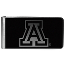Siskiyou Buckle Arizona Wildcats Black and Steel Money Clip, CBKM54