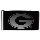 Siskiyou Buckle Georgia Bulldogs Black and Steel Money Clip, CBKM5