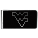Siskiyou Buckle W. Virginia Mountaineers Black and Steel Money Clip, CBKM60