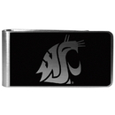 Siskiyou Buckle Washington St. Cougars Black and Steel Money Clip, CBKM71