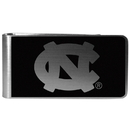 Siskiyou Buckle N. Carolina Tar Heels Black and Steel Money Clip, CBKM9