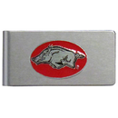 Siskiyou Buckle CBMC12 Arkansas Razorbacks Brushed Metal Money Clip