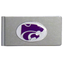 Siskiyou Buckle CBMC15 Kansas St. Wildcats Brushed Metal Money Clip