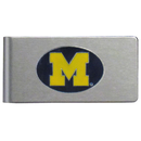 Siskiyou Buckle CBMC36 Michigan Wolverines Brushed Metal Money Clip