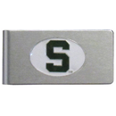 Siskiyou Buckle CBMC41 Michigan St. Spartans Brushed Metal Money Clip