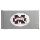 Siskiyou Buckle CBMC45 Mississippi St. Bulldogs Brushed Metal Money Clip