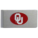 Siskiyou Buckle CBMC48 Oklahoma Sooners Brushed Metal Money Clip