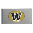 Siskiyou Buckle CBMC49 Washington Huskies Brushed Metal Money Clip