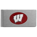 Siskiyou Buckle CBMC51 Wisconsin Badgers Brushed Metal Money Clip
