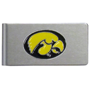 Siskiyou Buckle CBMC52 Iowa Hawkeyes Brushed Metal Money Clip