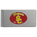 Siskiyou Buckle CBMC53 USC Trojans Brushed Metal Money Clip