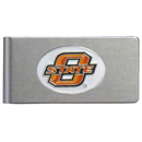 Siskiyou Buckle CBMC58 Oklahoma State Cowboys Brushed Metal Money Clip
