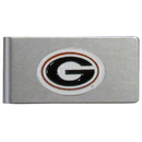 Siskiyou Buckle CBMC5 Georgia Bulldogs Brushed Metal Money Clip