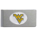 Siskiyou Buckle CBMC60 W. Virginia Mountaineers Brushed Metal Money Clip